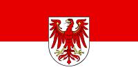 die Landesflagge vom Bundesland Brandenburg