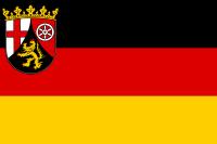 die Landesflagge vom Bundesland Rheinland-Pfalz