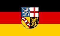 die Landesflagge vom Bundesland Saarland